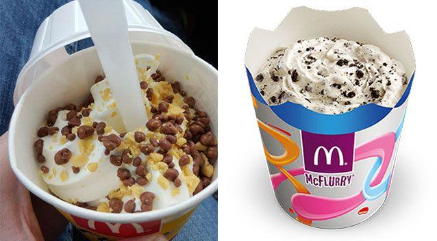 The cleanliness of the machine grossed out many social media users who enjoy a sundae or McFlurry. Picture: Twitter, McDonald's