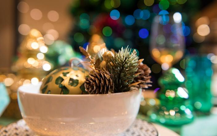 A table decoration from a previous year's John Lewis Christmas range - David Rose