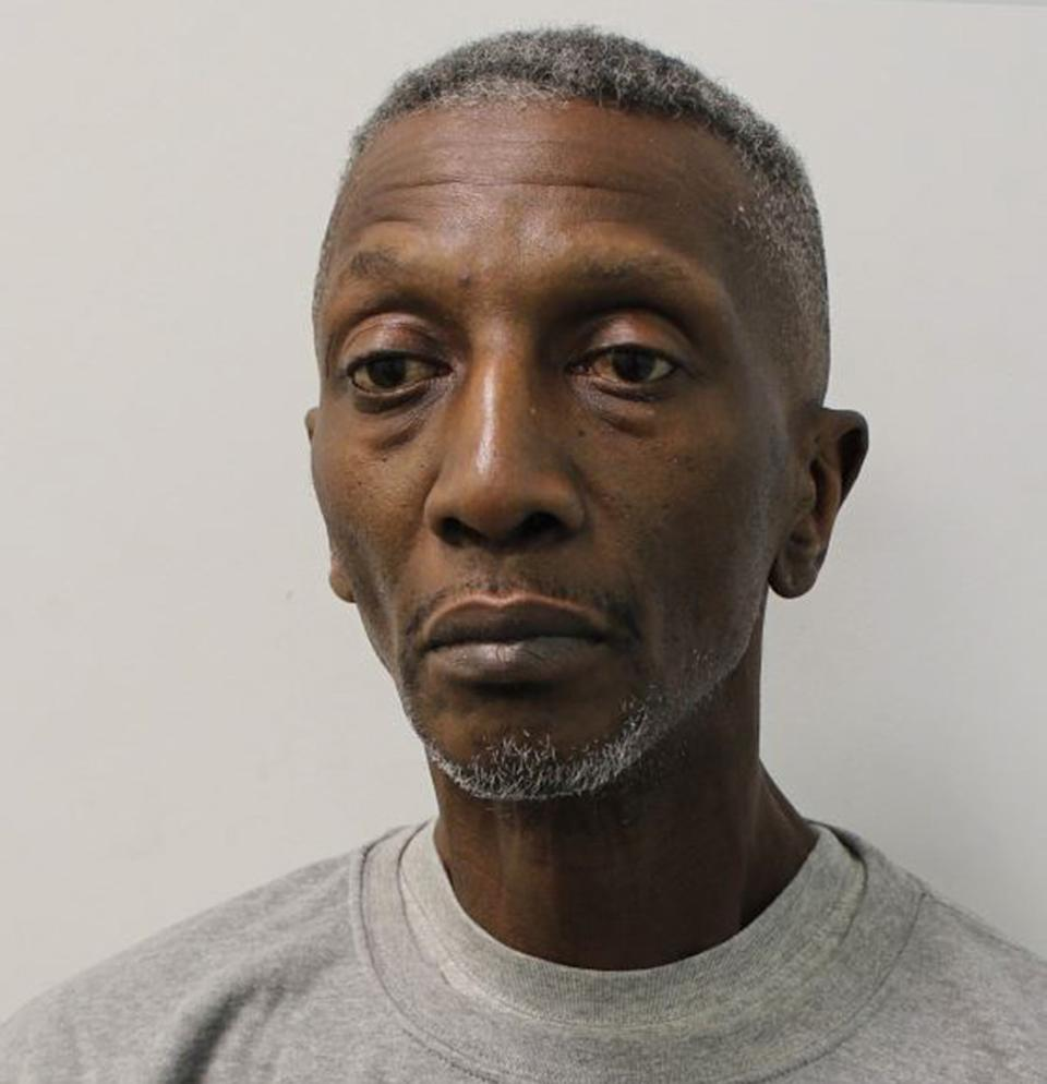 Undated handout photo issued by the Metropolitan Police of Michael Jefferson King, 60, better known as Shadow from '90s television show Gladiators, who has been jailed at Isleworth Crown Court for six years and three months for his role in a blackmail plot. Issue date: Friday August 27, 2021.