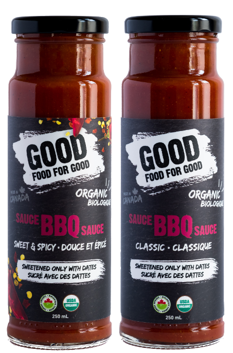 "<p><a rel=""nofollow"" href=""https://goodfoodforgood.ca/"">Good Food For Good</a> is best known for its tasty organic ketchups, sweetened with dates instead of heaps of sugar. Now the Canadian company has introduced new BBQ sauces to the roster, again using dates as the subsitute for sugar. Expect 75 per cent less sugar than brand name products; there's only 3 grams of sugar per serving. The sauces are also vegan, soy free, contain no gluten ingredients, have low salt content and have no preservatives. If you can't pick don't fret as there's an option to choose your own four pack and mix and match selections. Stock up. GFGF has a ""buy one, feed one"" charitable venture too, and they've fed over 80,000 people in need with a goal to feed one million people by 2020.<br /><a rel=""nofollow"" href=""https://goodfoodforgood.ca/shop/""><strong>SHOP IT: Good Food For Good, $7.99 (each); $31.96 (4-pack)</strong></a> </p>"