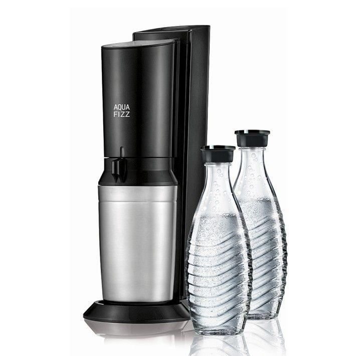 """<p><strong>Soda Stream</strong></p><p>williams-sonoma.com</p><p><strong>$159.95</strong></p><p><a href=""""https://go.redirectingat.com?id=74968X1596630&url=https%3A%2F%2Fwww.williams-sonoma.com%2Fproducts%2Fsoda-stream-aqua-fizz&sref=https%3A%2F%2Fwww.womenshealthmag.com%2Ffood%2Fg19983997%2Fkitchen-gifts%2F"""" rel=""""nofollow noopener"""" target=""""_blank"""" data-ylk=""""slk:Shop Now"""" class=""""link rapid-noclick-resp"""">Shop Now</a></p><p>Team <em>WH</em> is all about the bubbly…bubbly water that is. Which is exactly why several editors recommend this sleek and stylish Soda Stream. You can DIY a variety of carbonated creations, all from your very own countertop.</p>"""