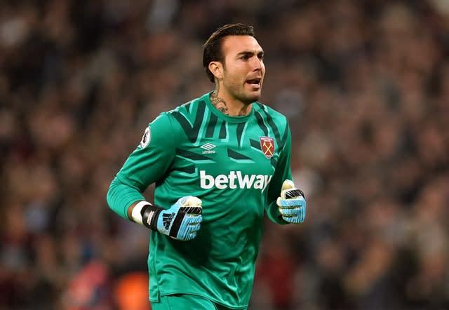 West Ham goalkeeper Roberto's error gifted Burnley their third goal (John Walton/PA)
