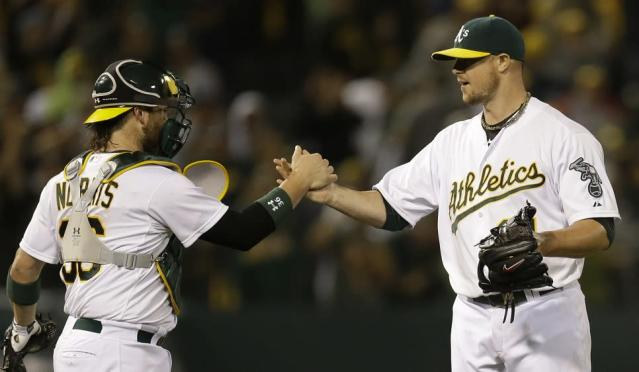 Jon Lester had a good start and bad ending during short stint with the A's. (AP)