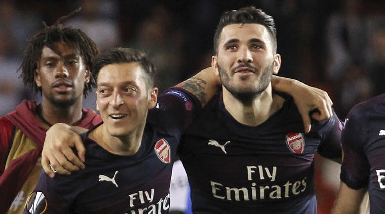 Harrow Crown Court in London heard that Ashley Smith and his accomplice did not count on Bosnia defender Kolasinac fighting back (Source: AP)
