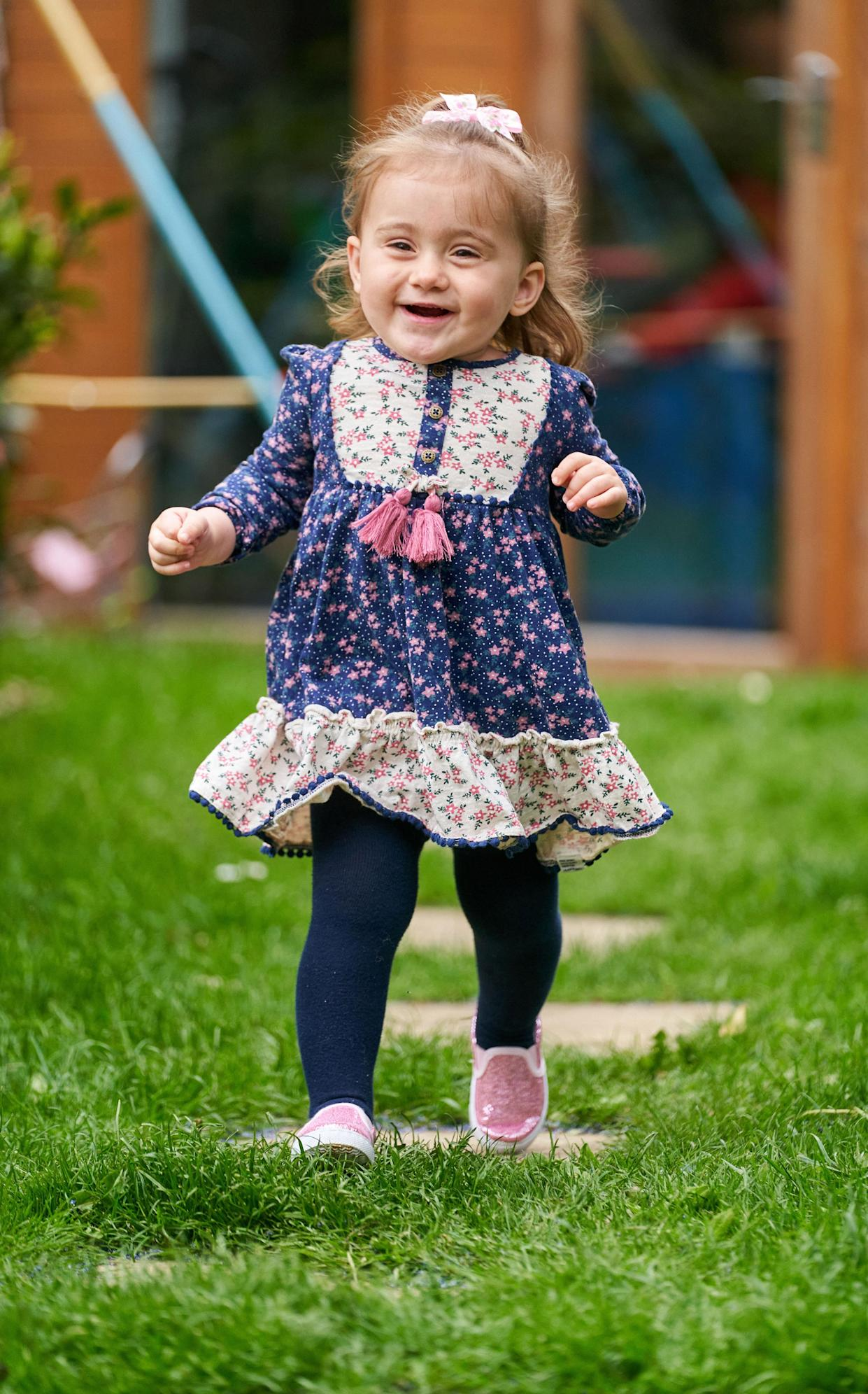 Eloise has defied odds by being able to run, walk and even climb. (Caters)