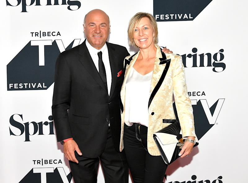 "NEW YORK, NY - SEPTEMBER 23: Kevin O'Leary and Linda O'Leary attend the Tribeca Talks Panel: 10 Years Of ""Shark Tank"" during the 2018 Tribeca TV Festival at Spring Studios on September 23, 2018 in New York City. (Photo by Dia Dipasupil/Getty Images)"