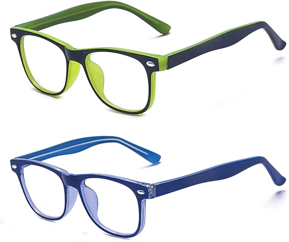 <p>These <span>Outray Kids Computer Blue Light Blocking Glasses</span> ($18) are colorful and fun.</p>
