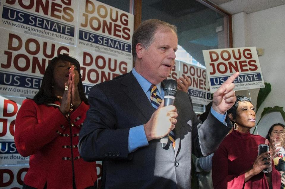 Former prosecutor Doug Jones is the first Democrat to be elected to the US Senate from Alabama in 25 years (AFP Photo/JIM WATSON)