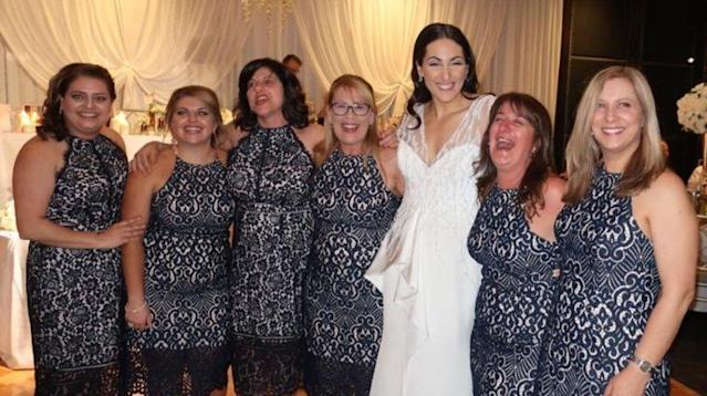 6 Women Wore The Same Dress To A Wedding And No, They Weren't Bridesmaids