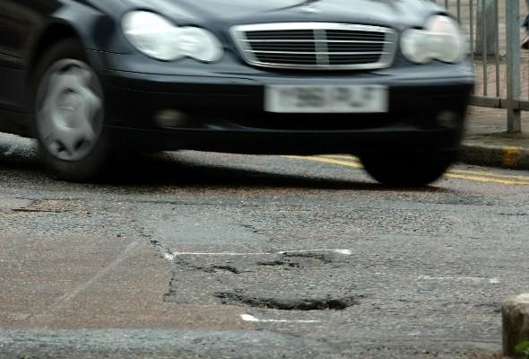 AA chief's car wrecked by 'sorry state' of Britain's roads