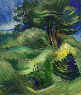 Emily Carr's mature period woodlands masterpiece Tossed by the Wind led the Heffel auction and sold for $3,121,250. (CNW Group/Heffel Fine Art Auction House)