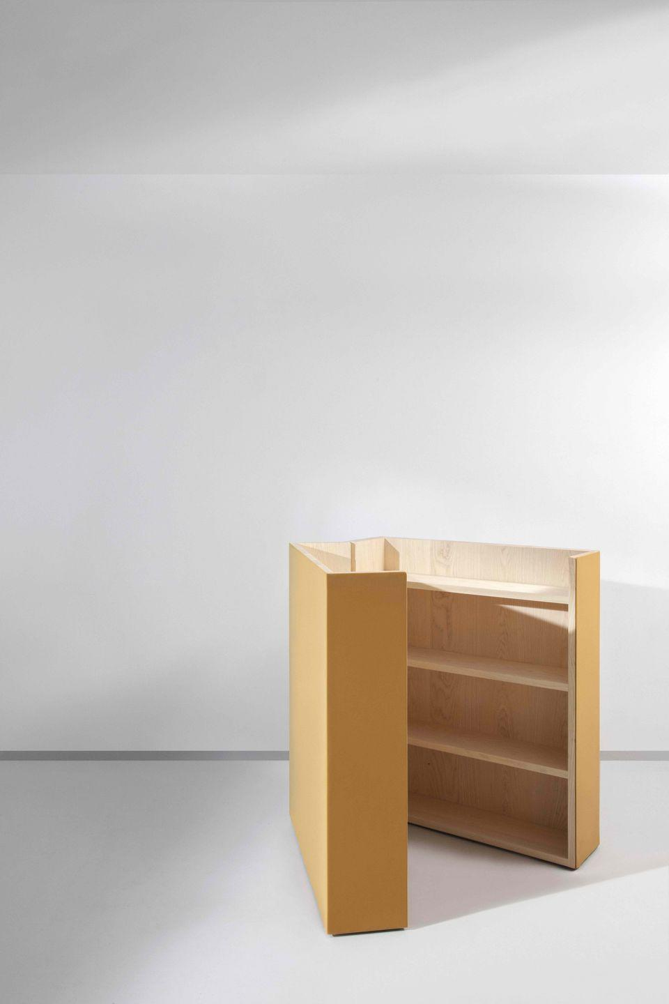 """<p>Danish practice Studio David Thulstrup has teamed up with Sørensen Leather to create a capsule collection of limited-edition designs that blur the boundaries between living and working. The 'Landscape' divider can be closed to hide its work-related contents at the end of the day. Approx £12,443, <a href=""""https://studiodavidthulstrup.com/DT-013-03-landscape-divider"""" rel=""""nofollow noopener"""" target=""""_blank"""" data-ylk=""""slk:studiodavidthulstrup.com"""" class=""""link rapid-noclick-resp"""">studiodavidthulstrup.com</a></p>"""
