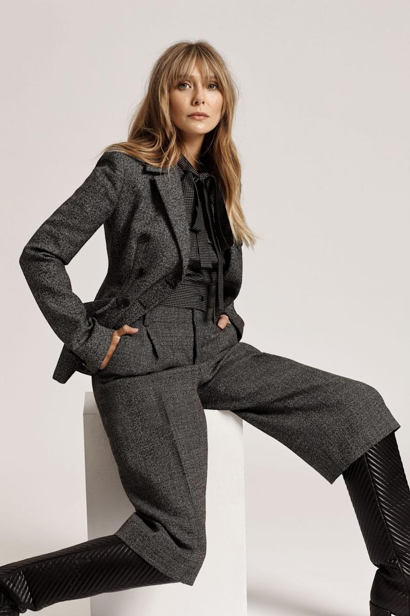 <p>Suit, Dior; Shoes, Gabriela Hearst. Photo by Emma Anderson.</p>