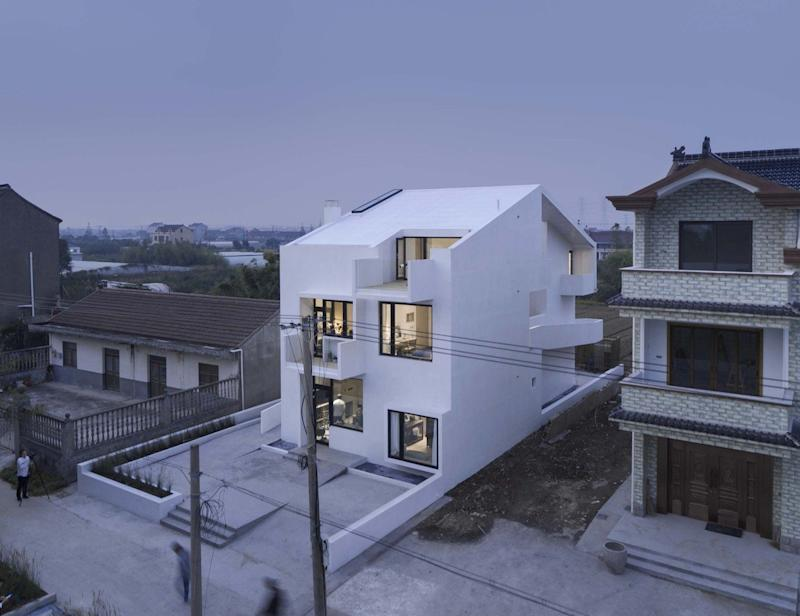 Song House, a rural Chinese home equipped with a multi-level wraparound wheelchair ramp
