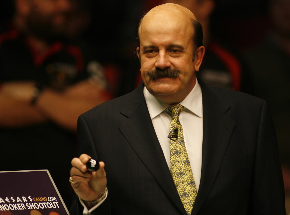 Snooker - Caesarscasino.com Snooker Shoot-Out - Circus Arena, Blackpool Tower - 29/1/11  Willie Thorne during the draw  Mandatory Credit: Action Images / Craig Brough