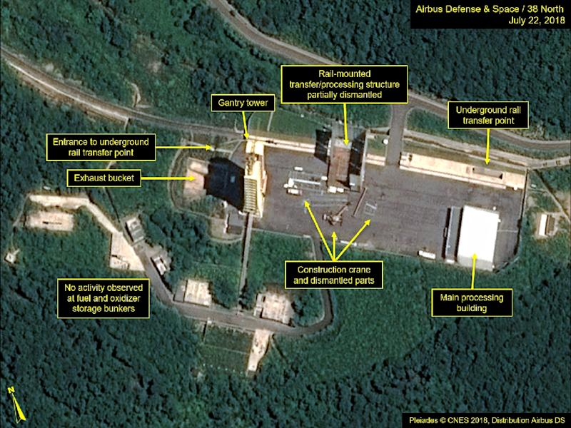 North Korea dismantling key satellite launch site facilities, USA research group says