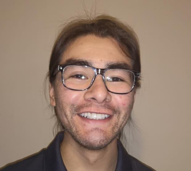Deverick Ottereyes-Rupert is on a hockey scholarship at Nipissing University in North Bay, Ont. He won a Dave Marshall Leadership Award from the university for his contribution to the community of North Bay.  (submitted by Mary Ann Ottereyes - image credit)