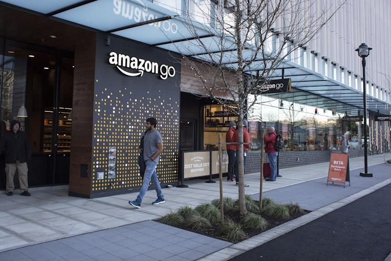After nearly a year's delay, Amazon Go is finally opening to the public on Monday morning.