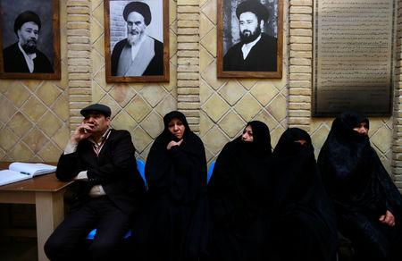 Iranian pilgrims are seen at the former home of the late Ayatollah Ruhollah Khomeini, in Najaf, Iraq February 9, 2019. Picture taken February 9, 2019.  REUTERS/Alaa al-Marjani