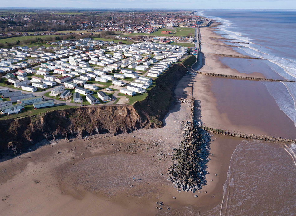 <em>The coast is eroding at a rate of 2.3m per year according to the local council (SWNS)</em>