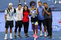 """<p>Cordae was alongside Naomi at the 2020 US open, though <a href=""""http://www.gq.com/story/naomi-osaka-cordae-march-modern-lovers-cover"""" class=""""link rapid-noclick-resp"""" rel=""""nofollow noopener"""" target=""""_blank"""" data-ylk=""""slk:his attendance wasn't originally planned"""">his attendance wasn't originally planned</a>, Naomi recalled to <strong>GQ</strong> earlier this year. She explained that typically her father is the person who accompanies her to all her tennis tournaments because """"he's sort of like the guy that keeps me calm."""" However, because of COVID-19, her father was unable to make the journey, so Cordae stepped in. """"During the whole New York thing and with everything that was going on, I started to feel really depressed. Sometimes I would call Cordae, and maybe in some of the calls I would cry,"""" Naomi said. """"And he flew out, even though he was really busy. I really appreciated that."""" Of course, how could anyone forget <a href=""""http://twitter.com/espnW/status/1304907608600518658?ref_src=twsrc%5Etfw%7Ctwcamp%5Etweetembed%7Ctwterm%5E1304907608600518658%7Ctwgr%5E%7Ctwcon%5Es1_&amp;ref_url=https%3A%2F%2Fwww.marieclaire.com%2Fcelebrity%2Fa35552675%2Fwho-is-cordae-naomi-osaka-boyfriend%2F"""" class=""""link rapid-noclick-resp"""" rel=""""nofollow noopener"""" target=""""_blank"""" data-ylk=""""slk:Cordae's spirited reaction"""">Cordae's spirited reaction</a> when he saw Naomi clinch the championship title? </p>"""