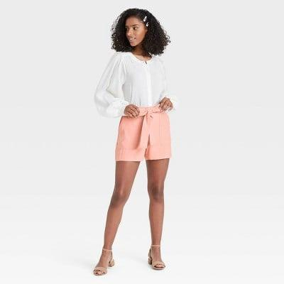 <p>These <span>Wild Fable High-Rise Frayed Hem Jean Shorts</span> ($15) look playful and fun.</p>