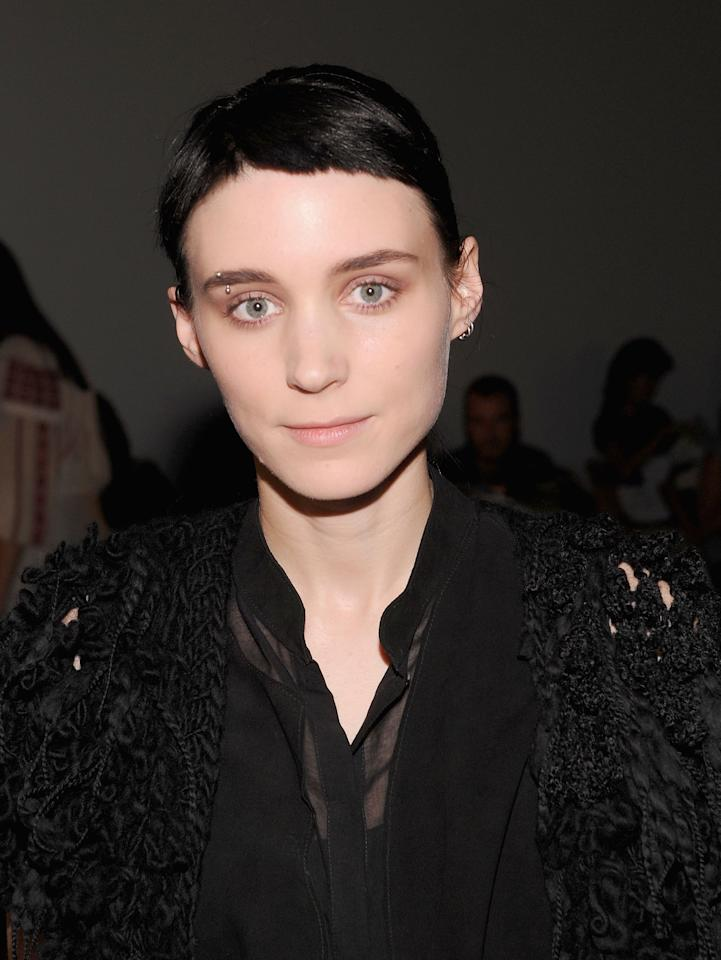 Rooney Mara attends the Rodarte Spring 2012 fashion show during Mercedes-Benz Fashion Week at  on September 13, 2011 in New York City.  (Photo by Jamie McCarthy/WireImage)