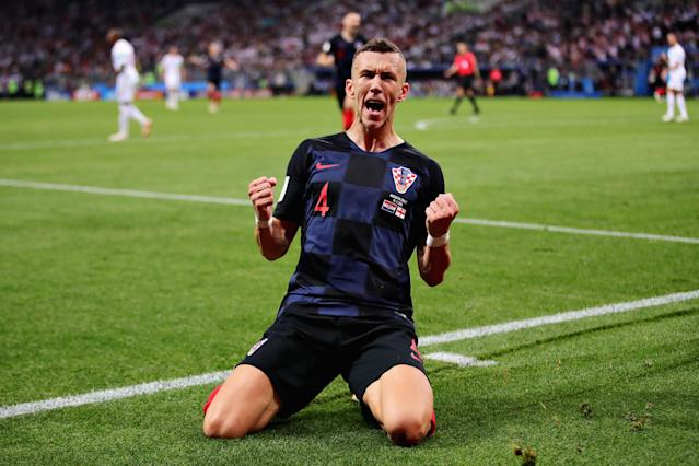 Ivan Perisic stunned England with the equaliser. (Getty)
