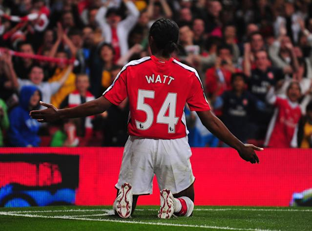 Sanchez Watt scored on his Arsenal debut 10 years ago