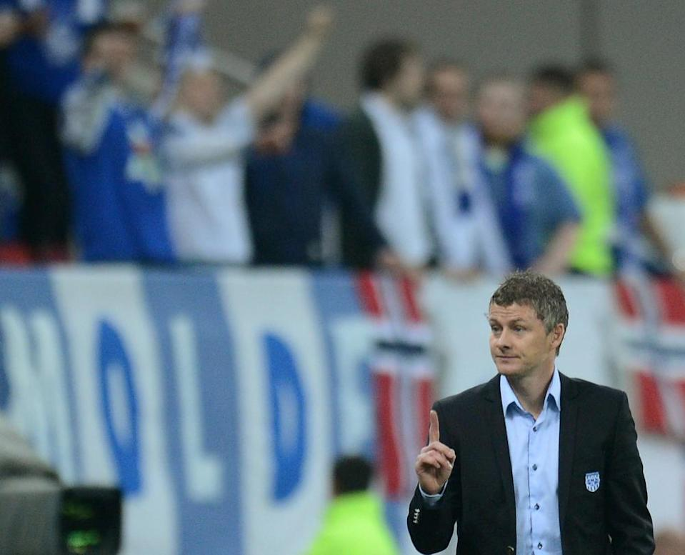 Ole Gunnar Solskjær in October 2012 while in charge of Molde, whom he led to unprecedented success.