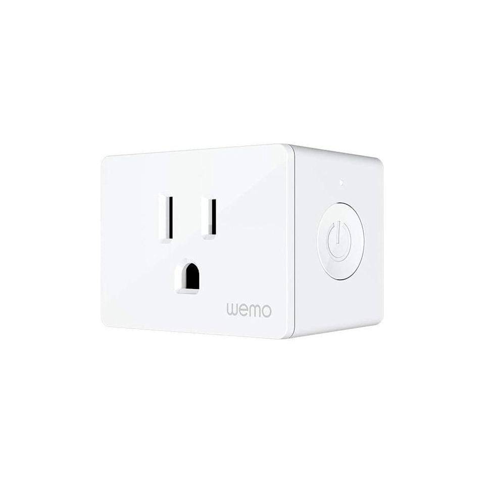 "<p><strong>WeMo</strong></p><p>amazon.com</p><p><a href=""https://www.amazon.com/dp/B08CJTMBF8?tag=syn-yahoo-20&ascsubtag=%5Bartid%7C2089.g.34397039%5Bsrc%7Cyahoo-us"" rel=""nofollow noopener"" target=""_blank"" data-ylk=""slk:Shop Now"" class=""link rapid-noclick-resp"">Shop Now</a></p><p>The Wemo Smart plug is a Wi-Fi connected device that can be controlled anywhere. You can use it to set the schedules to automatically turn lamps, appliances, or decorations off and on.</p><p>We recommend plugging a fog machine in it, so you can set up a voice trigger to have Alexa let some fog loose on some unsuspecting trick-or-treaters.</p><p><strong>Related: </strong><a href=""https://www.bestproducts.com/home/outdoor/g34166595/best-fog-machines/"" rel=""nofollow noopener"" target=""_blank"" data-ylk=""slk:You Haven't Finished Decorating for Halloween Until You Have a Fog Machine! Here's Which Ones are Our Favorites"" class=""link rapid-noclick-resp"">You Haven't Finished Decorating for Halloween Until You Have a Fog Machine! Here's Which Ones are Our Favorites</a></p>"