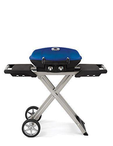 "<p><strong>Napoleon </strong></p><p><strong>$409.00</strong></p><p><a href=""https://www.amazon.com/Napoleon-TQ285XBL1-Propane-Grill-Blue/dp/B07PJS4B4X/ref=sr_1_6?tag=syn-yahoo-20&ascsubtag=%5Bartid%7C10055.g.2320%5Bsrc%7Cyahoo-us"" rel=""nofollow noopener"" target=""_blank"" data-ylk=""slk:Shop Now"" class=""link rapid-noclick-resp"">Shop Now</a></p><p>The Napolean Travel Q scored very high in our tests. It turned out a medium rare steak with distinct grill marks quickly, and produced golden brown chicken quarters with virtually no charring when cooked for 20 minutes over medium heat. While relatively small and <strong>easy to fold up for travel</strong><strong>, the grates can fit 16 burgers and the domed shape allows for thicker cuts of meat</strong> with barely any flareups and minimal smoke. Its two burners turned on right away and can be used for direct and indirect cooking, and it's powered by either a one-pound propane cylinder but can also be connected to a full sized tank. </p>"