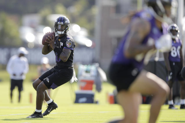 Quarterback Lamar Jackson and the Ravens believe they're at the forefront of offensive evolution in the NFL. (AP)