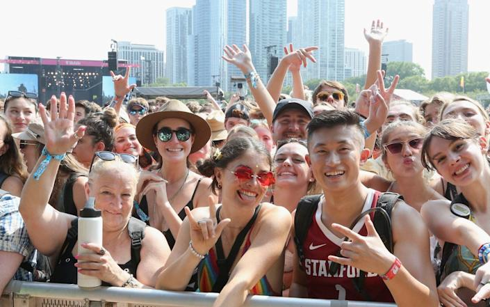 Crowds during the first day of the Lollapalooza festival at Grant Park, Chicago on 30 July 2021 - Gary Miller/FilmMagic