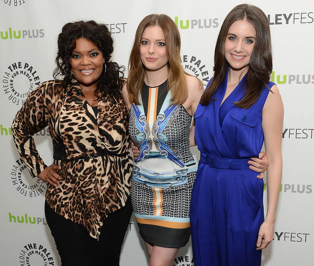 "Yvette Nicole Brown, Gillian Jacobs and Alison Brie attend the 30th annual PaleyFest featuring the cast of ""Community"" at the Saban Theatre on March 5, 2013 in Beverly Hills, California."