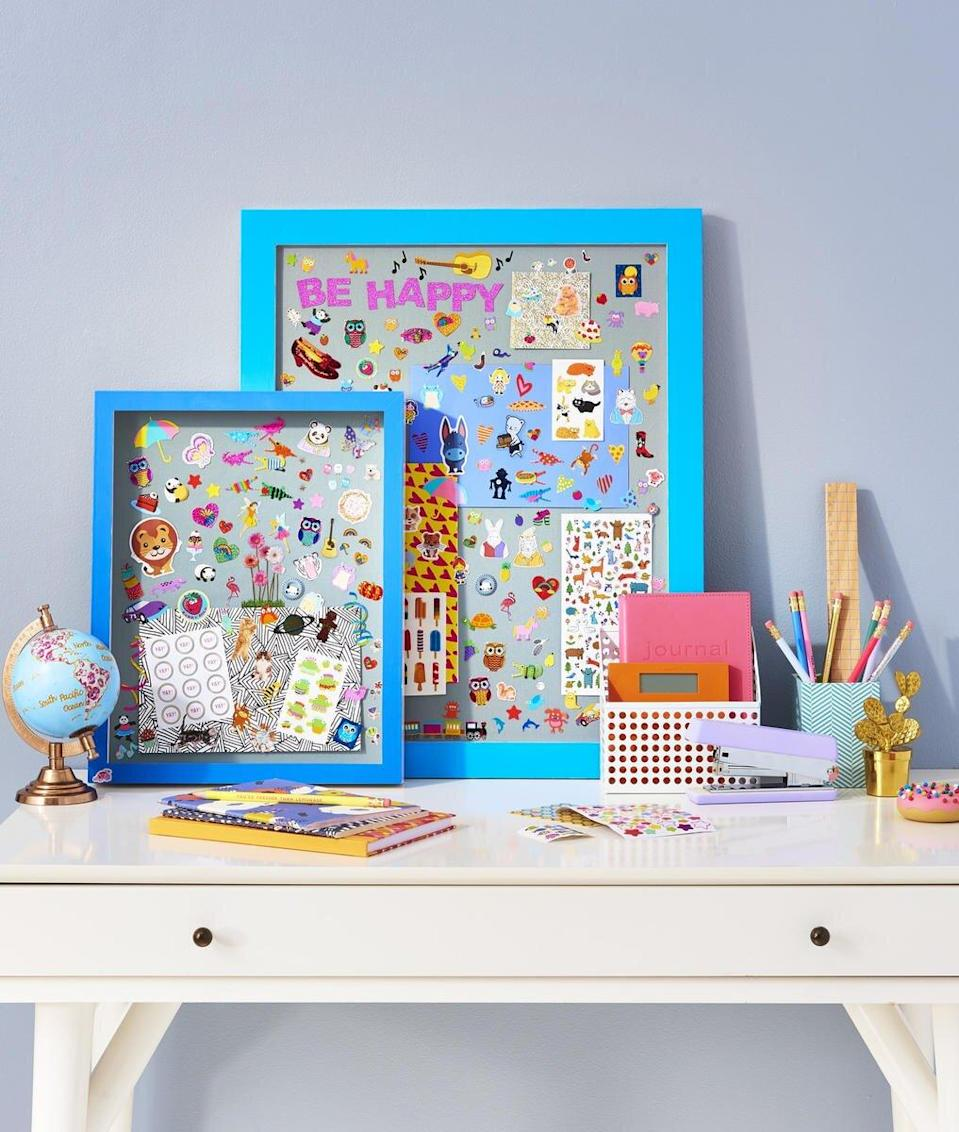 Kids Collections Shadowbox Picture Frame with Stickers