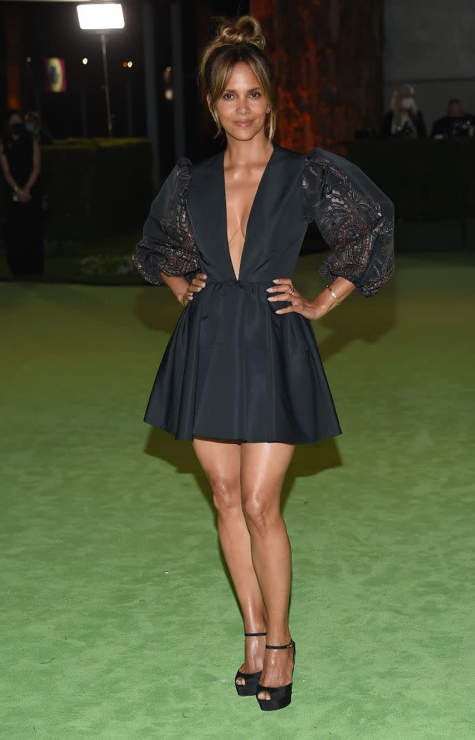 Halle Berry at the Academy Museum of Motion Pictures opening Gala honoring Haile Gerima and Sophia Loren on Sept. 25, 2021, in Los Angeles. - Credit: O'Connor/AFF-USA.com/MEGA