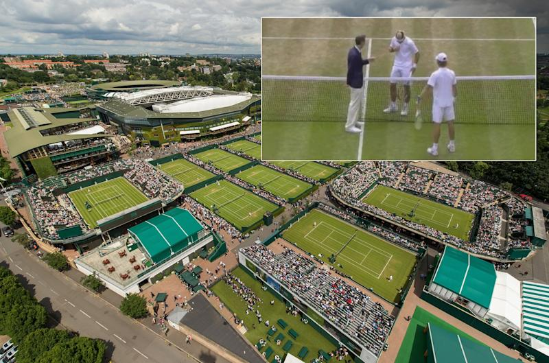 Wimbledon umpire inspects junior player's underwear on court in boys singles match