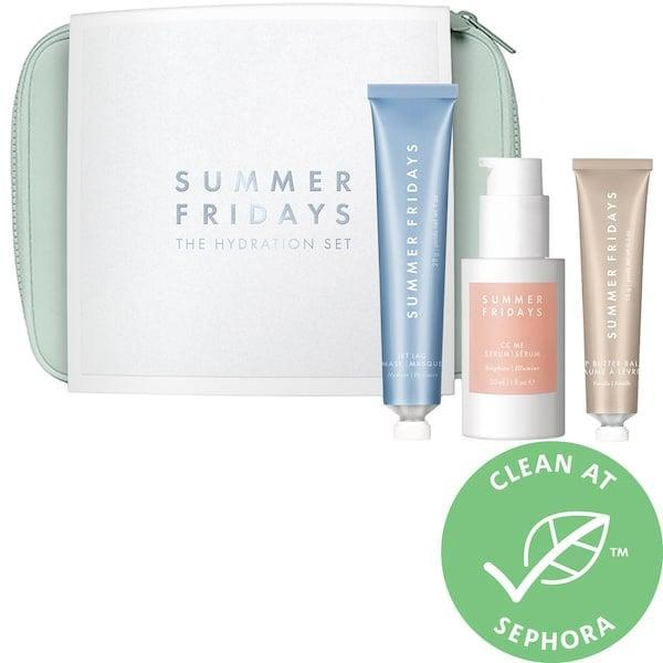 <p>Three of the brand's bestselling products come together in this <span>Summer Fridays The Hydration Set</span> ($75).</p>