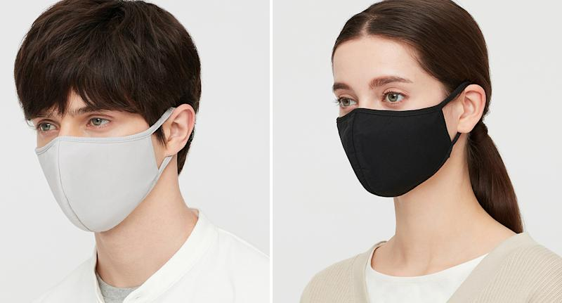 Uniqlo's AIRism technology face masks have now launched in the UK. (Uniqlo)