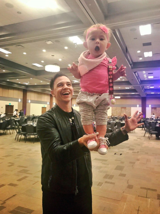 Some critics claim the magician shouldn't be using his young daughter in tricks. Photo: Facebook/justinflomofficial