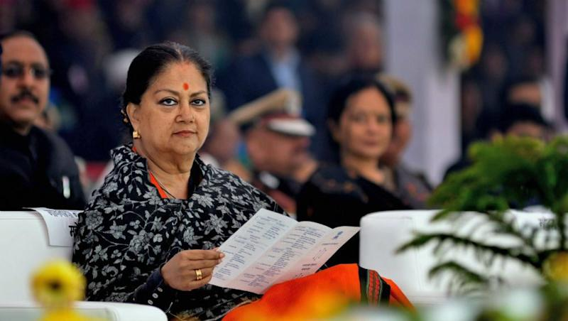 Rajasthan Political Crisis: Vasundhara Raje Hits Out at Congress, Says 'People of State Paying for The Discard'