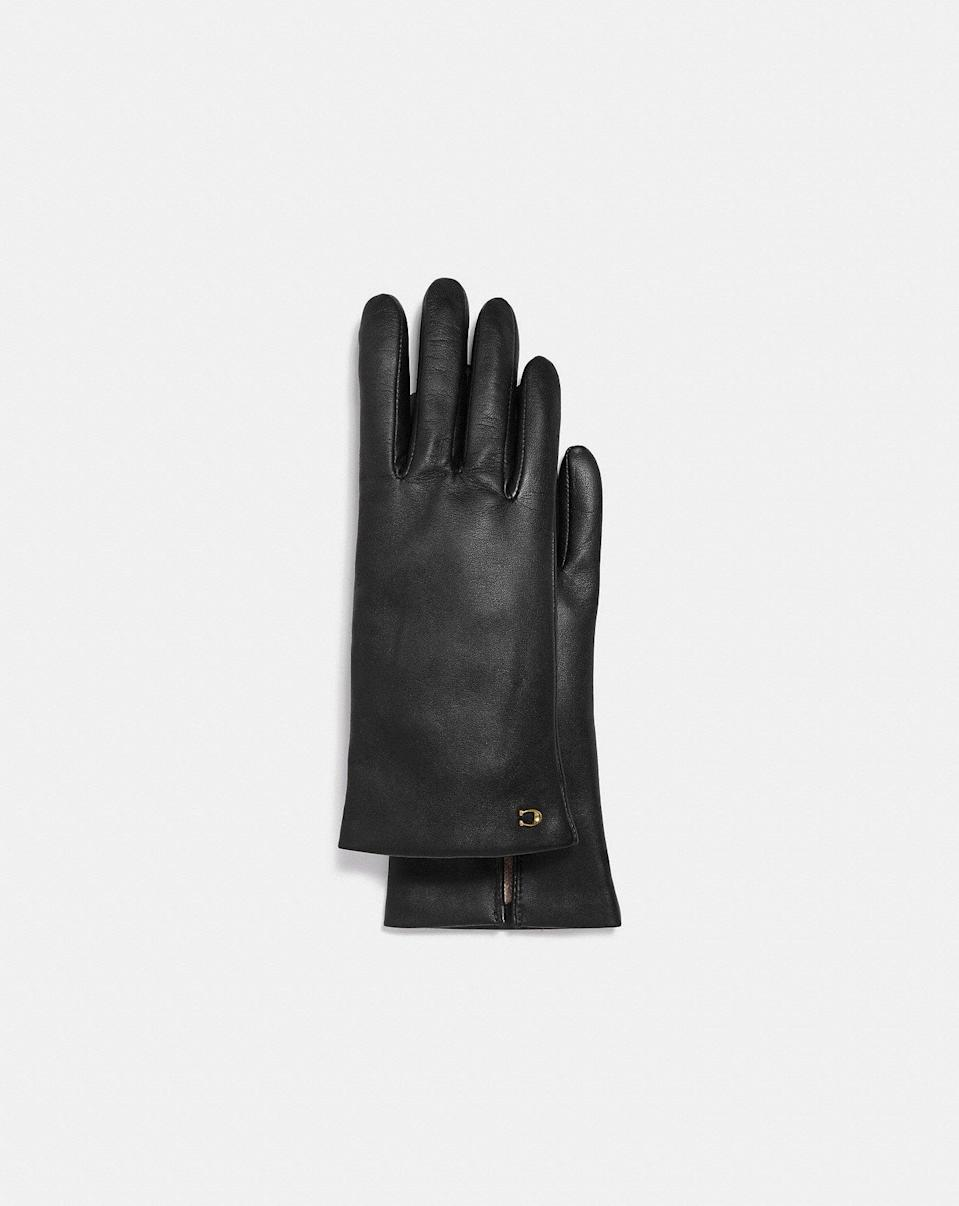 <p>These <span>Sculpted Signature Leather Tech Gloves</span> ($95) are the finishing touch to your fall ensemble.</p>