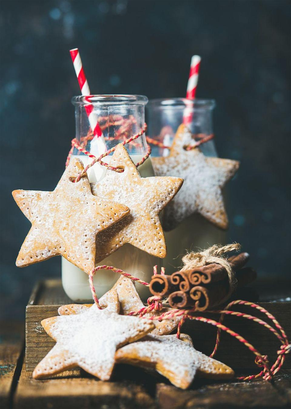 """<p>Grab your cookie sheets and whip up some special treats to set out for Santa. You can't go wrong with classic <a href=""""https://www.countryliving.com/food-drinks/recipes/a40523/christmas-light-sugar-cookies-recipe/"""" rel=""""nofollow noopener"""" target=""""_blank"""" data-ylk=""""slk:sugar cookies"""" class=""""link rapid-noclick-resp"""">sugar cookies</a>, <a href=""""https://www.countryliving.com/food-drinks/g3604/gingerbread-cookie-recipes/"""" rel=""""nofollow noopener"""" target=""""_blank"""" data-ylk=""""slk:gingerbread cookies"""" class=""""link rapid-noclick-resp"""">gingerbread cookies</a>, or peppermint-topped treats. </p><p><a class=""""link rapid-noclick-resp"""" href=""""https://www.amazon.com/StarPack-Christmas-Cookie-Cutters-Piece/dp/B0162AHDMY/?tag=syn-yahoo-20&ascsubtag=%5Bartid%7C10050.g.25411840%5Bsrc%7Cyahoo-us"""" rel=""""nofollow noopener"""" target=""""_blank"""" data-ylk=""""slk:SHOP COOKIE CUTTERS"""">SHOP COOKIE CUTTERS</a></p>"""