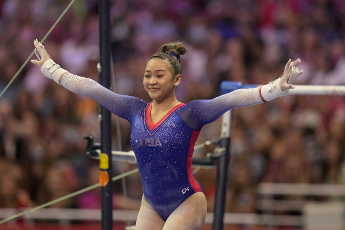 In any other Olympics, Sunisa Lee would be a favorite to win all-around gold in women's gymnastics. (AP Photo/Jeff Roberson)
