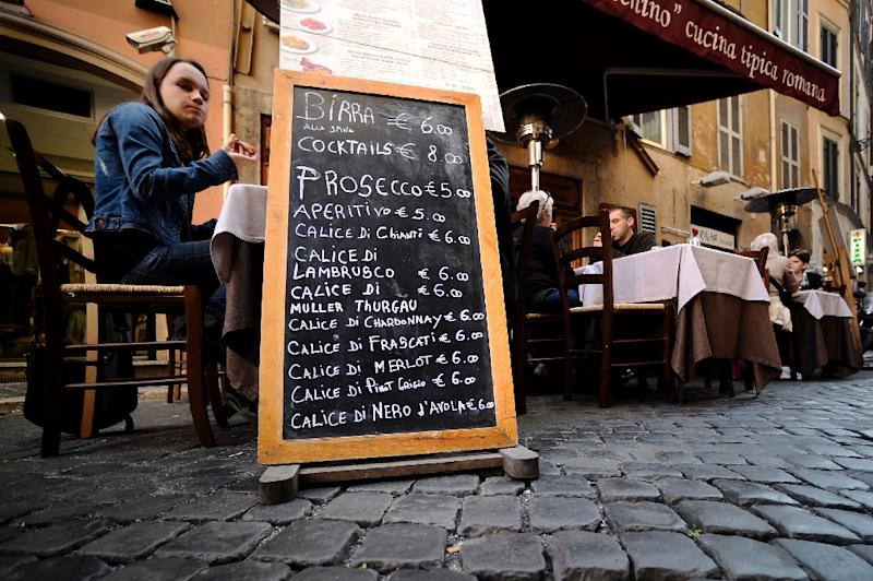 A recent study by Coldiretti, the body representing Italian farmers, estimated that at least 5,000 restaurants, bars and other eating places across the country are in the hands of organised crime (AFP Photo/Filippo Monteforte)