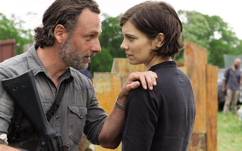 Andrew Lincoln and Lauren Cohan in The Walking Dead - © 2017 AMC Film Holdings LLC. All Rights Reserved.