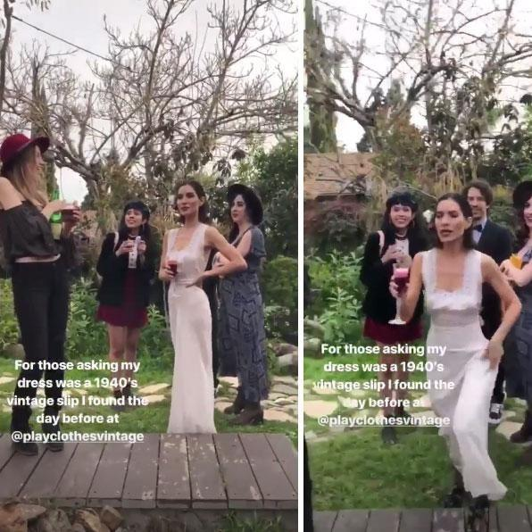 Australian singer Lisa Origliasso has revealed her stunning dress choice was a last-minute pick before her engagement party over the weekend. Source: Instagram/lisa_veronica