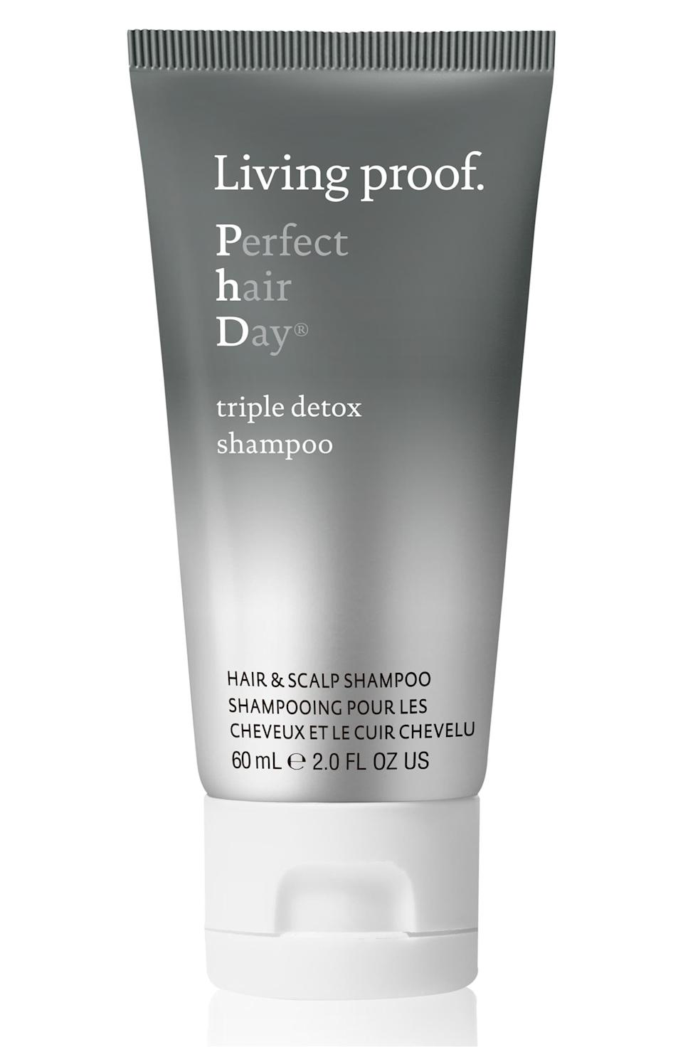 """<p><strong>Living Proof</strong></p><p>sephora.com</p><p><strong>$29.00</strong></p><p><a href=""""https://go.redirectingat.com?id=74968X1596630&url=https%3A%2F%2Fwww.sephora.com%2Fproduct%2Fperfect-hair-day-phd-triple-detox-shampoo-P440977&sref=https%3A%2F%2Fwww.harpersbazaar.com%2Fbeauty%2Fhair%2Fg24892831%2Fbest-sulfate-free-shampoos%2F"""" rel=""""nofollow noopener"""" target=""""_blank"""" data-ylk=""""slk:Shop Now"""" class=""""link rapid-noclick-resp"""">Shop Now</a></p><p>The activated charcoal in this high-tech shampoo helps draw out buildup from pollution and other hair products, so hair feels clean but not stripped.</p>"""