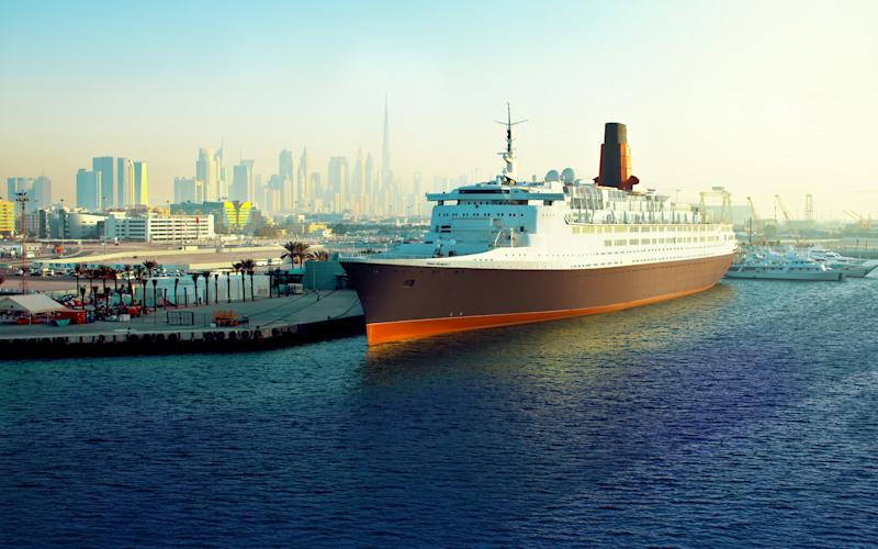 After 40 years making the transatlantic crossing for Cunard, the Queen Elizabeth 2 is opening as a luxury hotel on the Dubai waterfront. - CHOPPERSHOOT